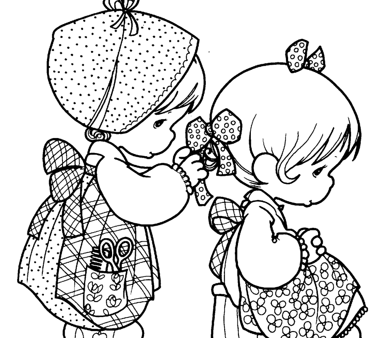 Precious Moments Coloring Book Pages to Print Gallery | Free ...