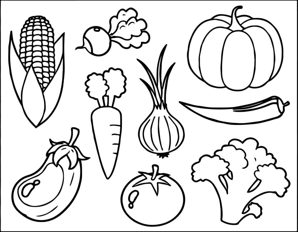 Healthy Food Coloring Pages Food Groups Collection – Free Coloring ...