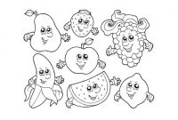Coloring Pages Of Healthy Foods - Healthy Food Coloring Pages Unique Fruit with Faces Coloring Pages to Print