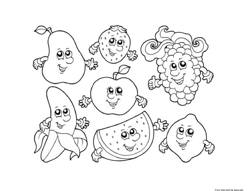 Healthy Food Coloring Pages Gallery – Free Coloring Sheets
