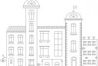 Hospital Coloring Pages Printable - Hospital Building Coloring Page Printable