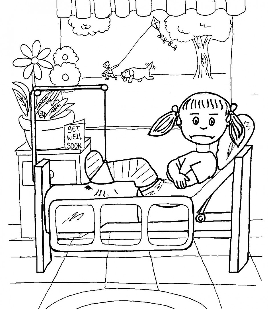 Hospital Coloring Pages Printable to Print 7e - Free For Children