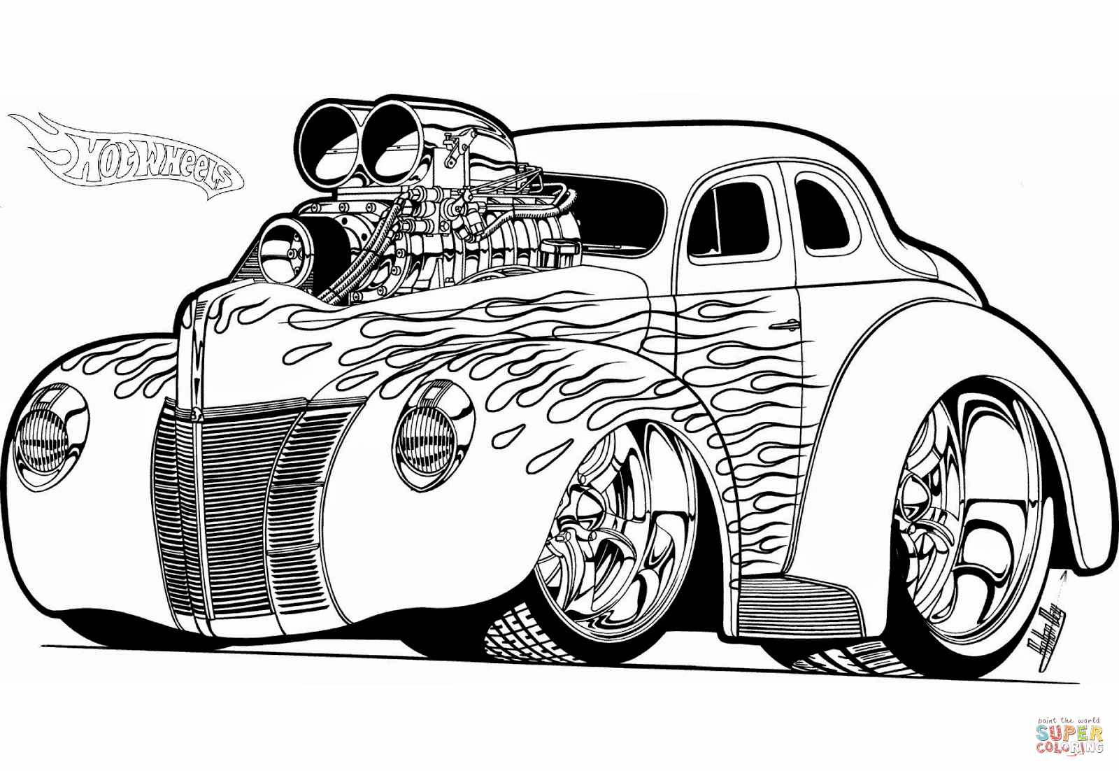 Hot Rod Coloring Pages to Print Download 19r - Free For Children