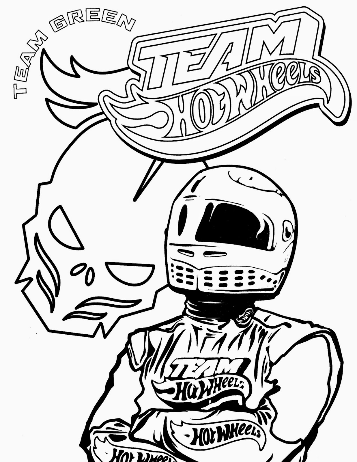 Hot Wheels Racing League Hot Wheels Coloring Pages Set 4 to Print ...