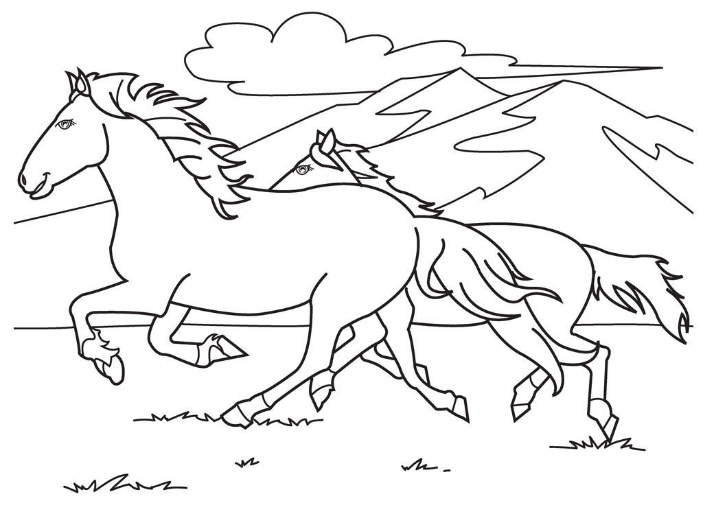 Race Horse Coloring Pages Printable 20j - Free For Children