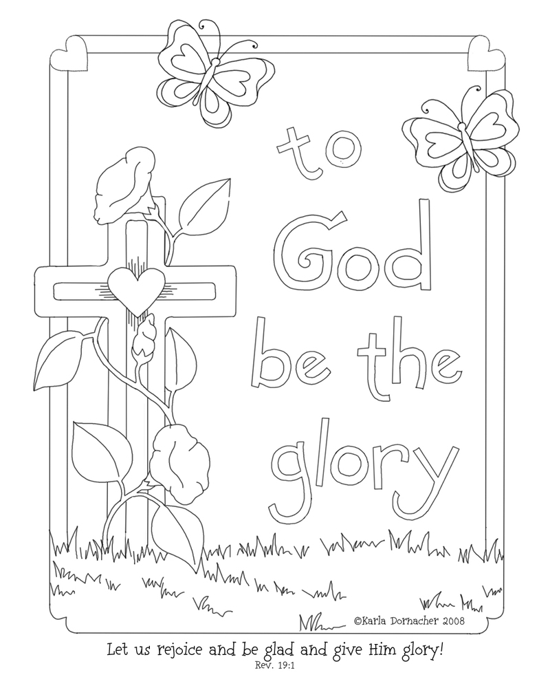 Praise and Worship Coloring Pages Printable 20p - To print for your project