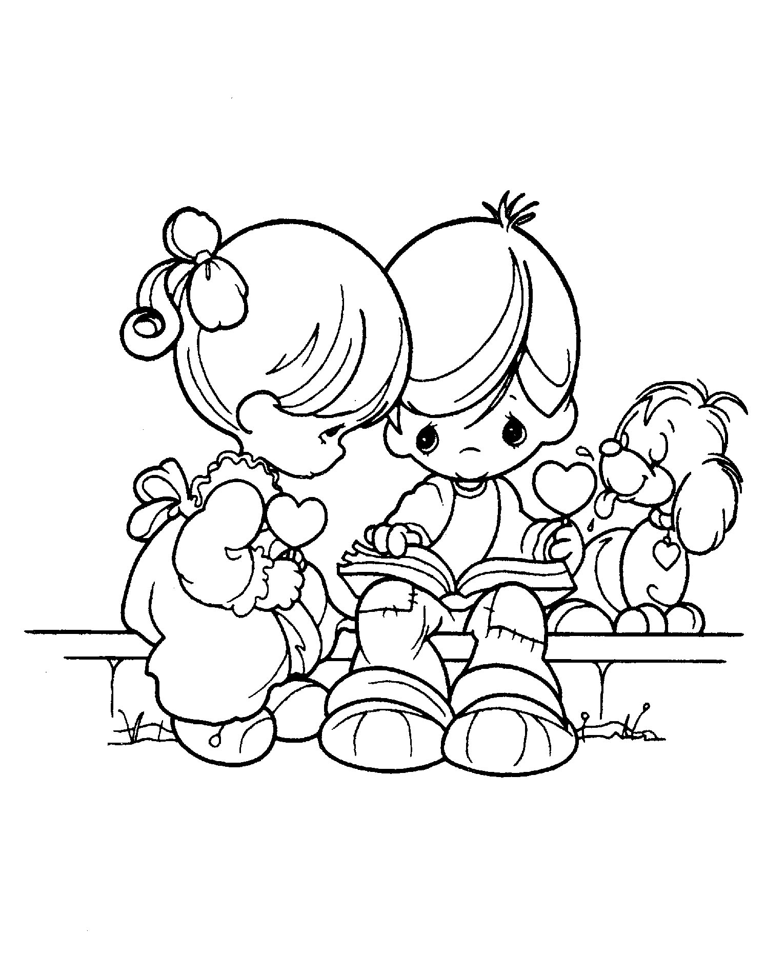 Magic Precious Moments Indian Coloring Pages A Unknown Printable ...