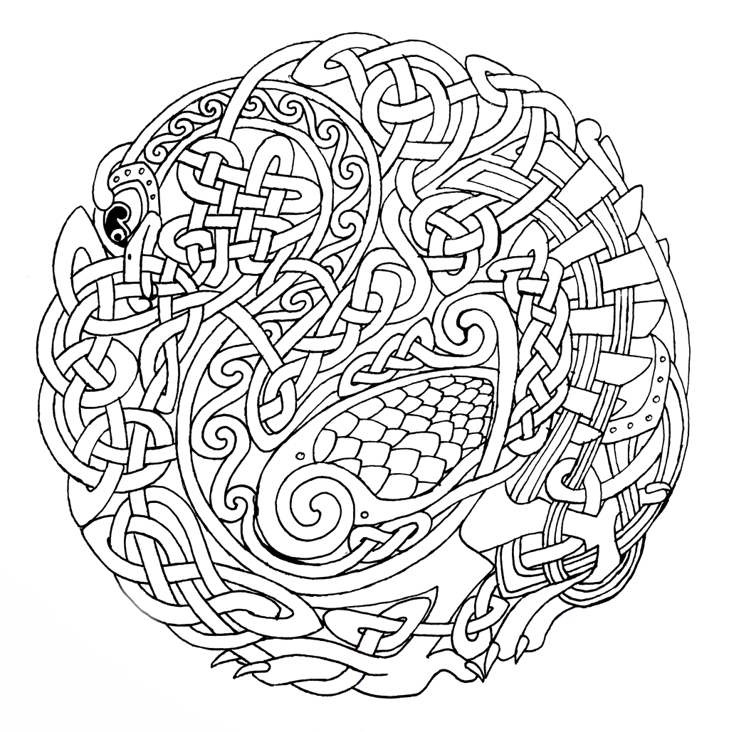 Celtic Mandalas Coloring Pages to Print 2c - To print for your project