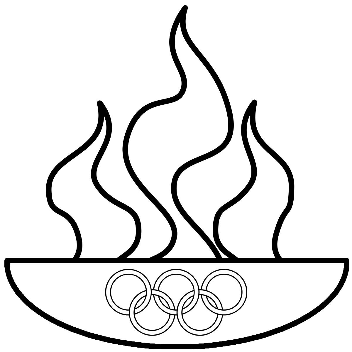 Memorating the theft Of Fire From the Greek God Zeus by Download Of Special Olympics Coloring Pages Inspirational Olympic torch Coloring Download