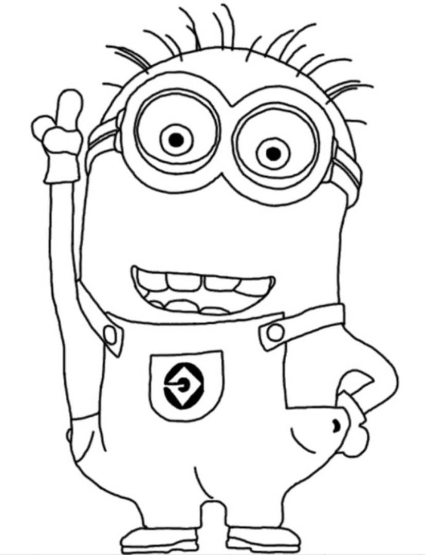 Minion Coloring Pages Printable Minion Coloring Pages Free Minion to Print Of 13 Kid Coloring Pages Line Gallery