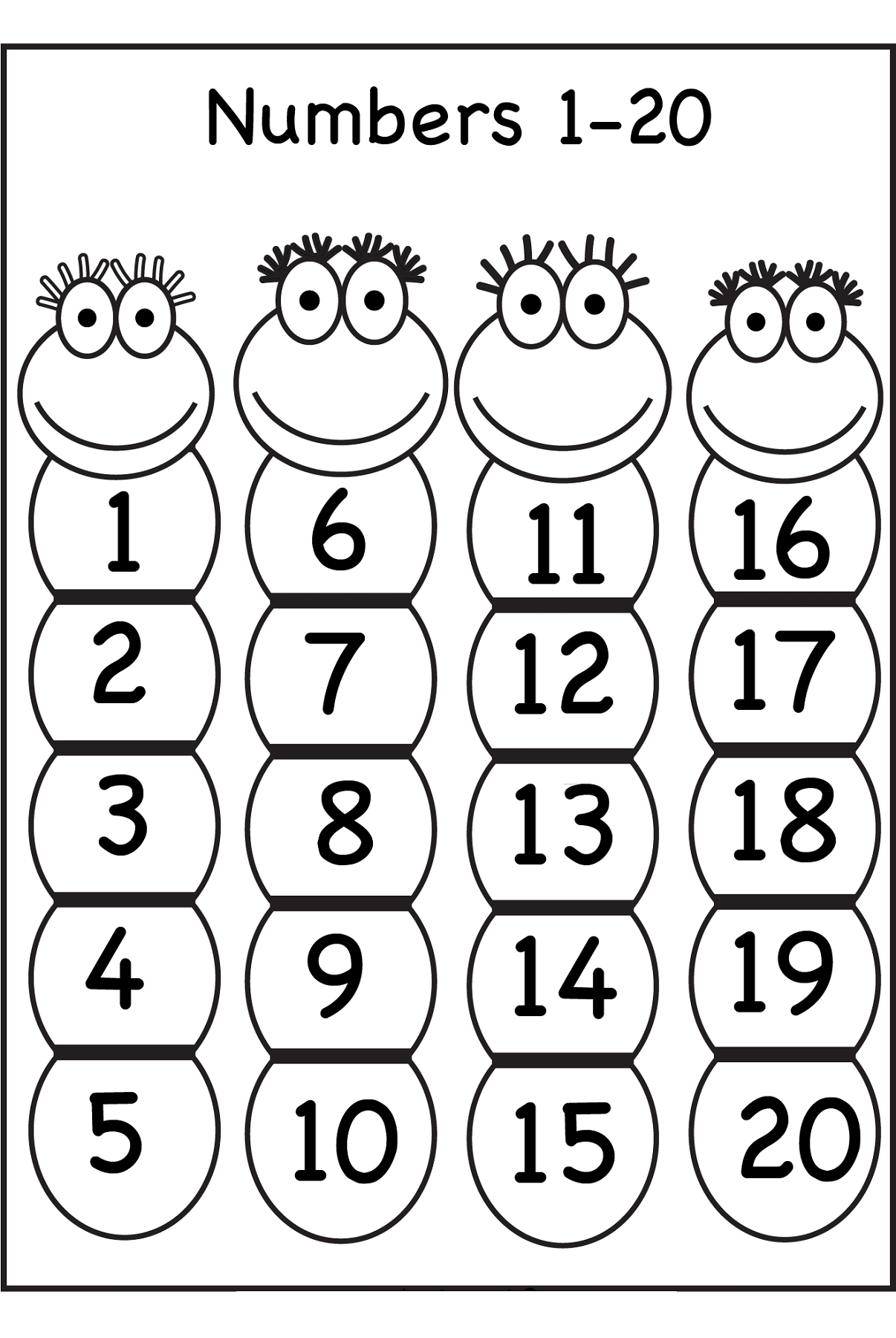 Coloring Pages Of Number 1 for Preschoolers Coloring Point Download ...