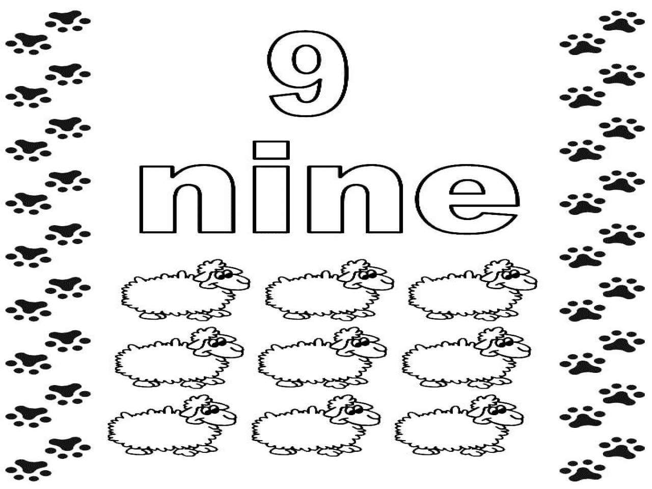 Number 9 Coloring Pages For Preschoolers Crafts To Do With Kids To Print