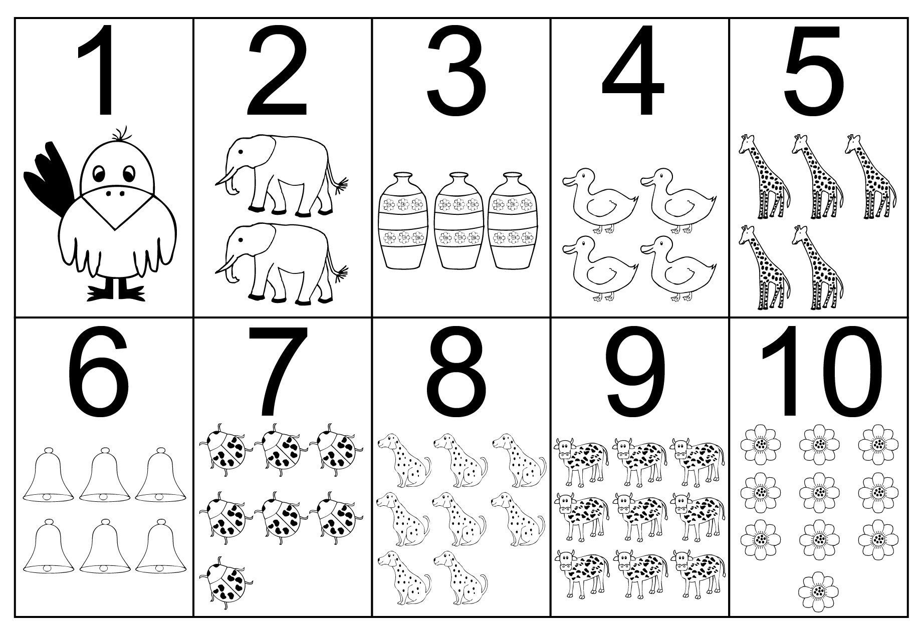 Preschool Number Coloring Pages Collection 11f - Save it to your computer