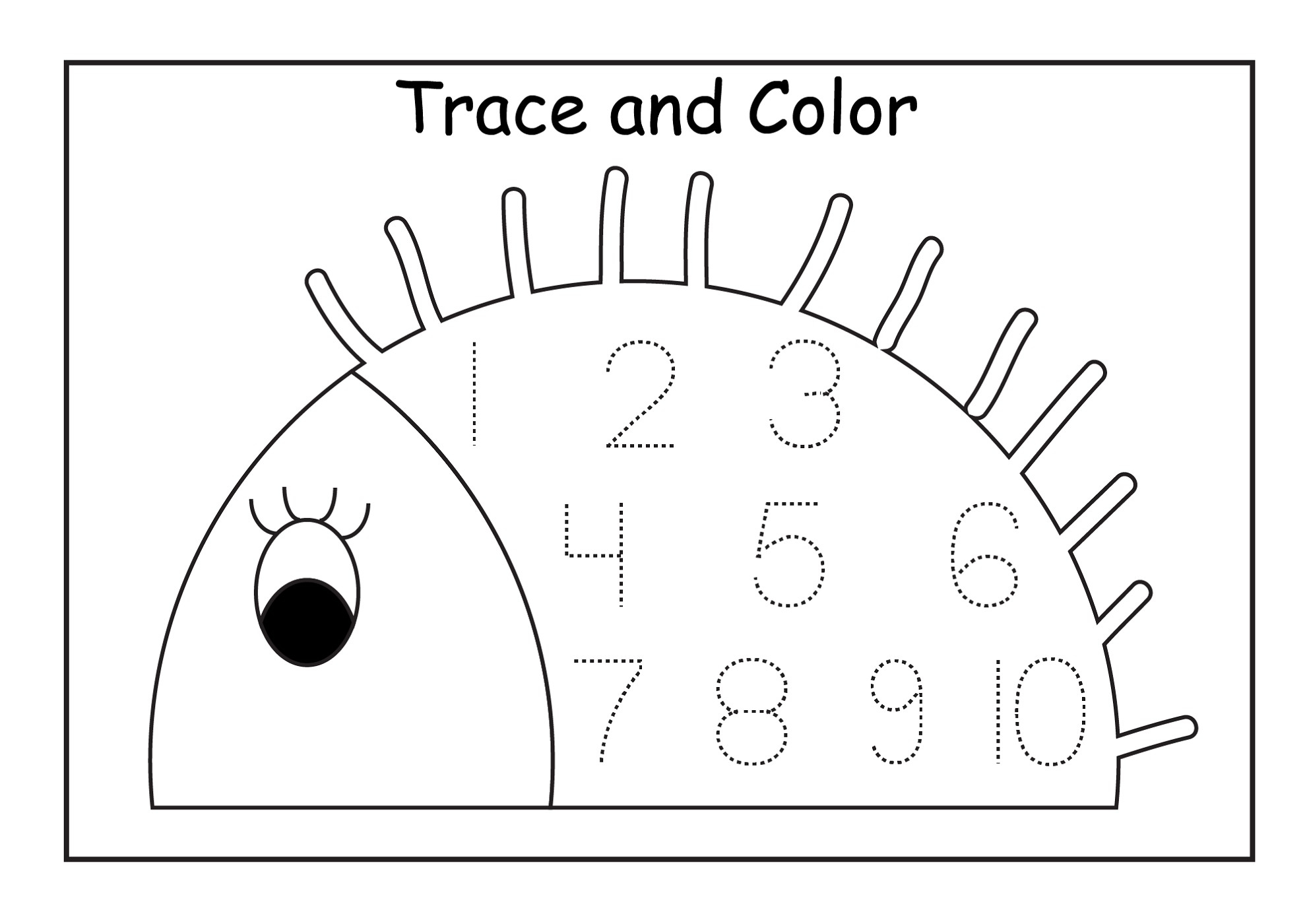 Number 10 Coloring Page with Preschool Sheets for Tgm Sports ...