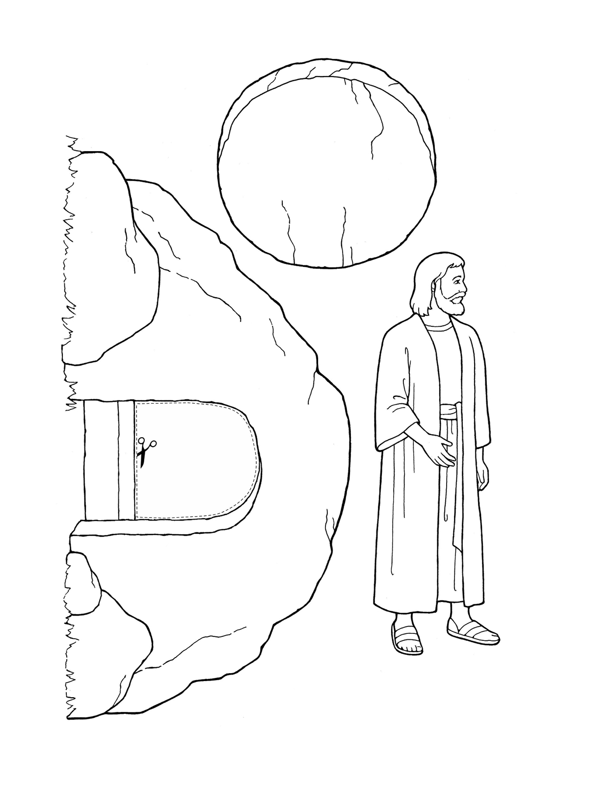 Coloring Pages Of Jesus Christ Resurrection Gallery 20a - Free Download