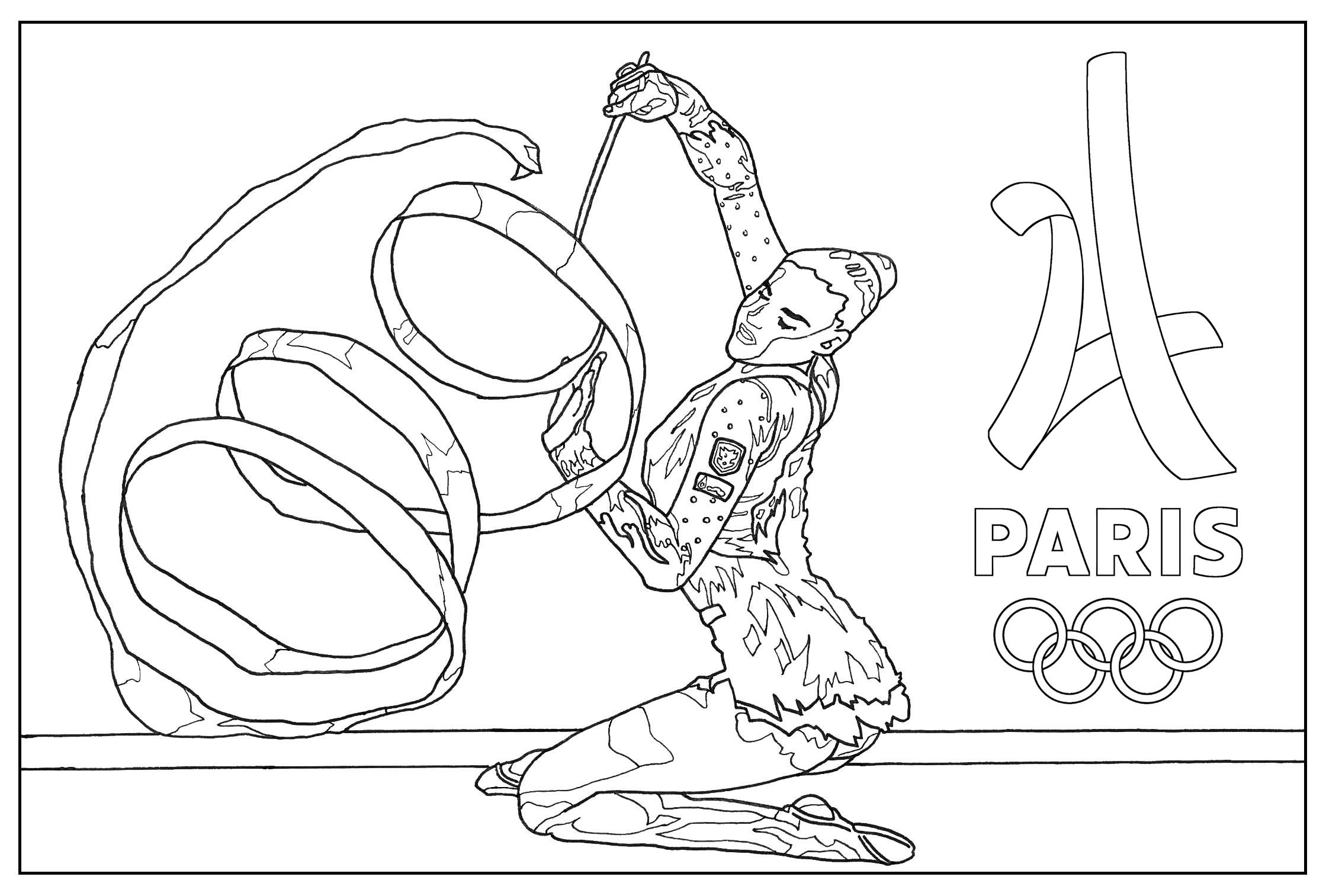 Olympic Games Gymnastic Paris 2024 Olympic & Sport Adult to Print Of Special Olympics Coloring Pages Inspirational Olympic torch Coloring Download