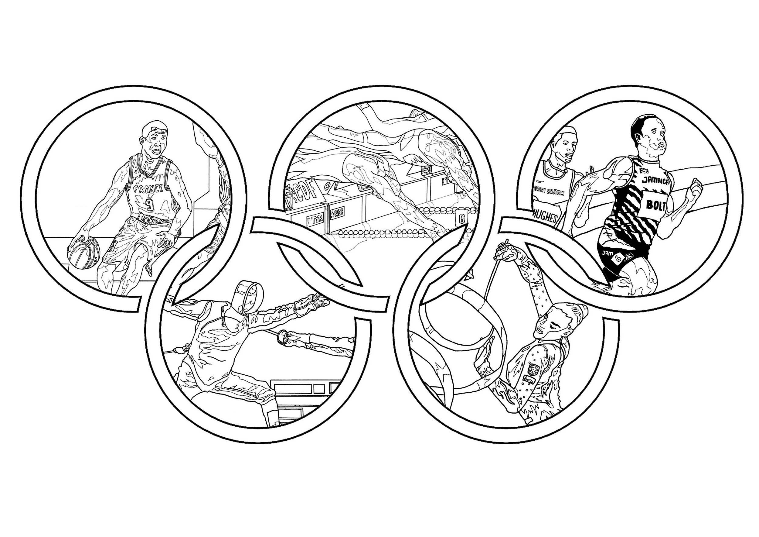 Olympic Games Olympic & Sport Adult Coloring Pages Gallery Of Olympic Games Gymnastic Paris 2024 Olympic & Sport Adult to Print