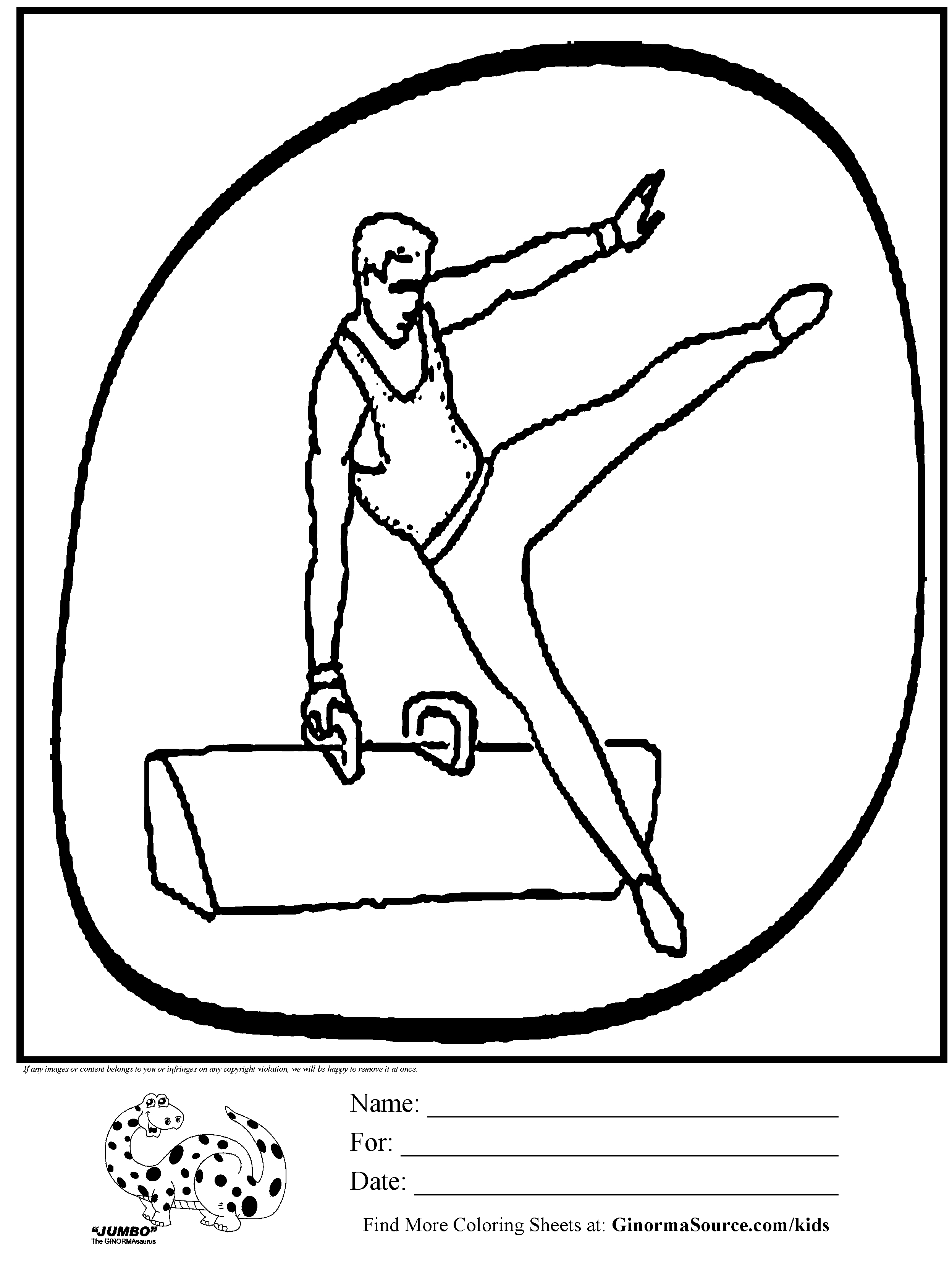 Olympic Gymnastics Pummel Horse Coloring Page – Fun Time to Print Of Olympic Games Gymnastic Paris 2024 Olympic & Sport Adult to Print