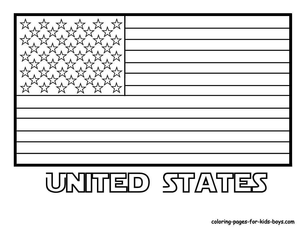 Coloring Pages Flags From Around the World to Print 10i - To print for your project