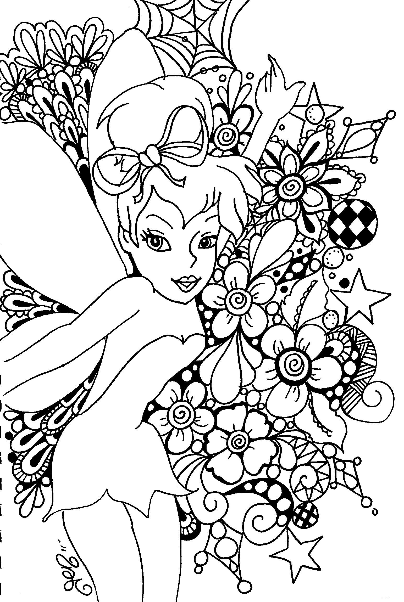 Printable Tinkerbell Coloring Pages Collection 8p - To print for your project