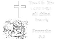 Coloring Pages for Sunday School Lessons - Prayer Trust In the Lord Collection