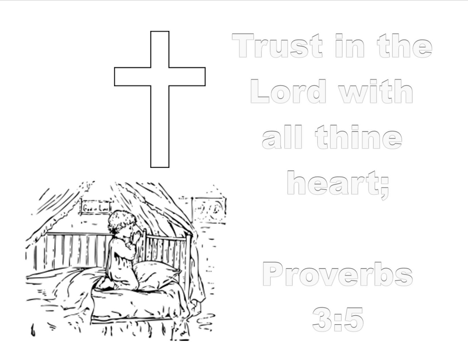 Prayer Trust In the Lord Collection Of 28 Sunday School Coloring Pages for Preschoolers Jesus Loves Gallery