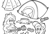 Summer Preschool Coloring Pages - Preschool S Camping In Summer Seasonbbef Coloring Pages Printable to Print