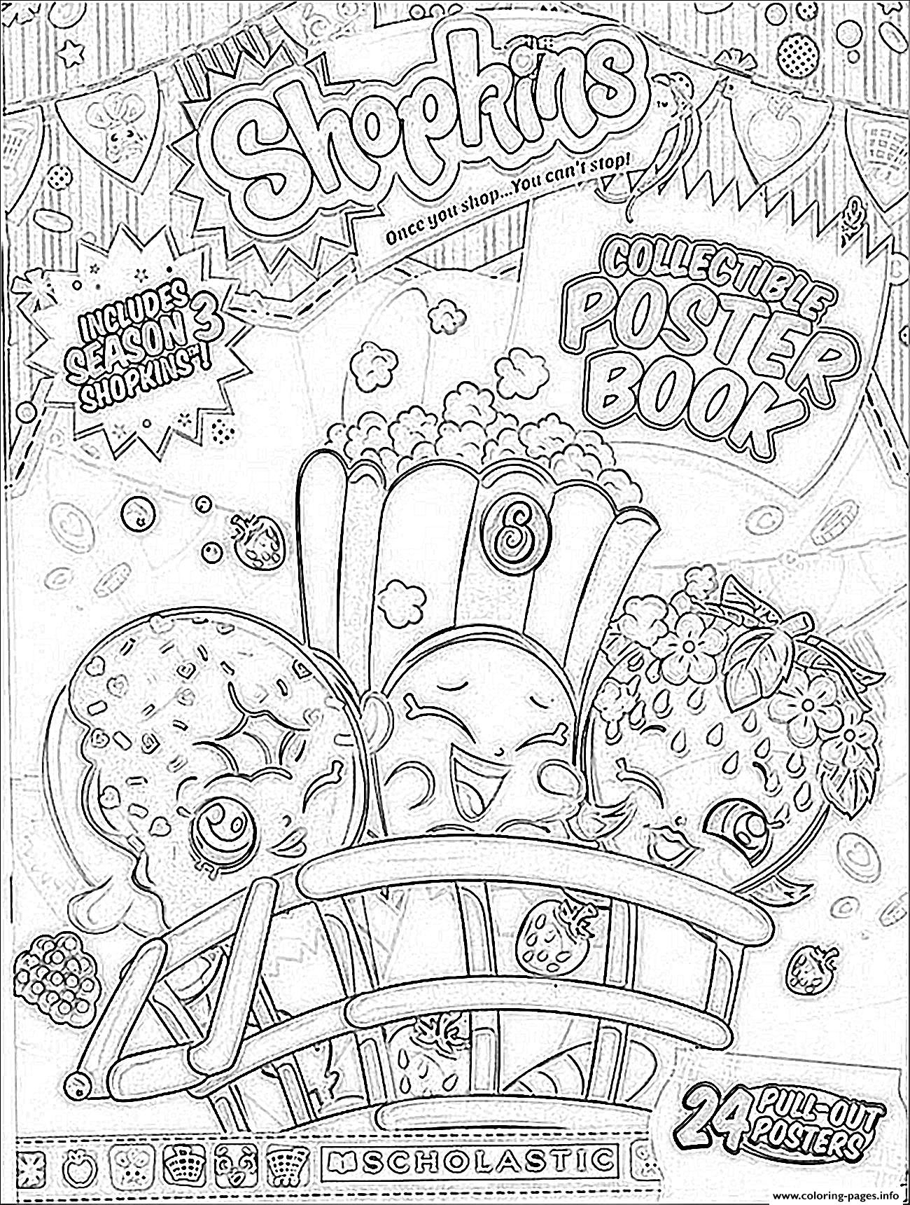 Print Shopkins Season 3 Book Coloring Pages Kids Collection – Free ...