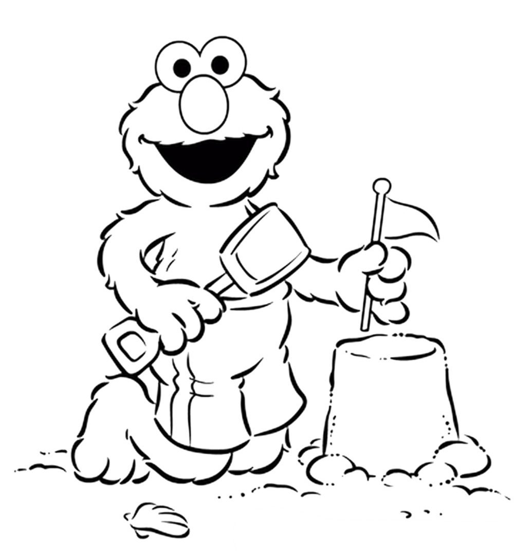 Printable Elmo Coloring Pages Go To Sport Sesame Street Free Download