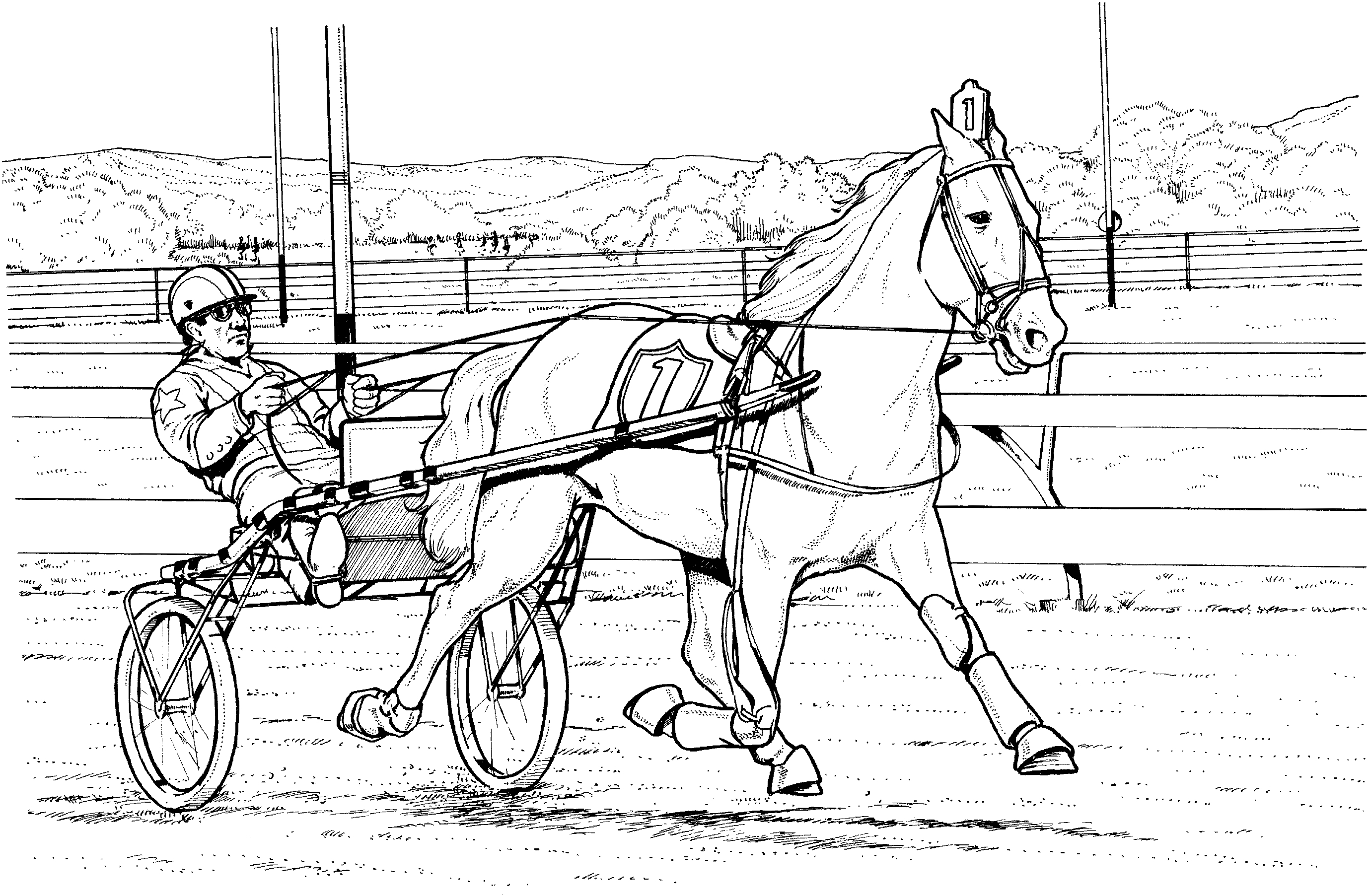 Horse Racing Coloring Pages Printable – Free Coloring Sheets