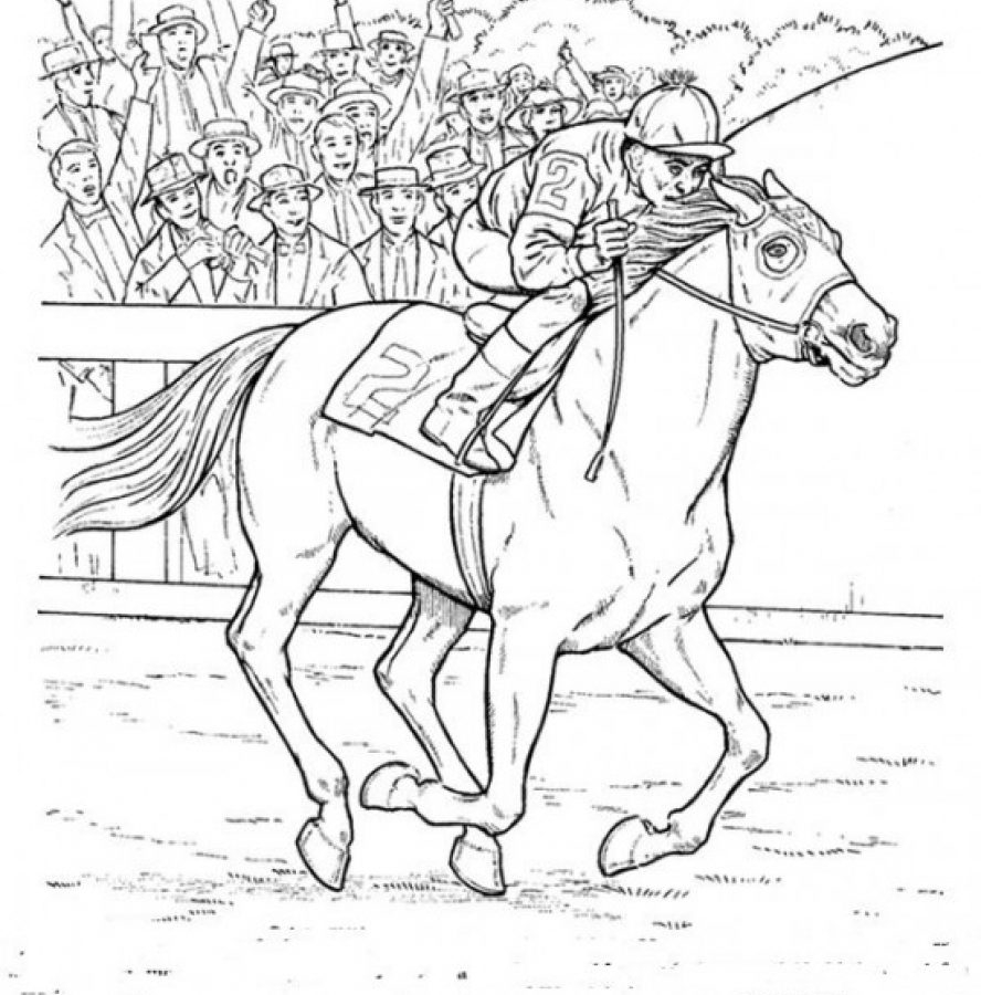 Race Horse Coloring Pages Printable | Free Coloring Sheets