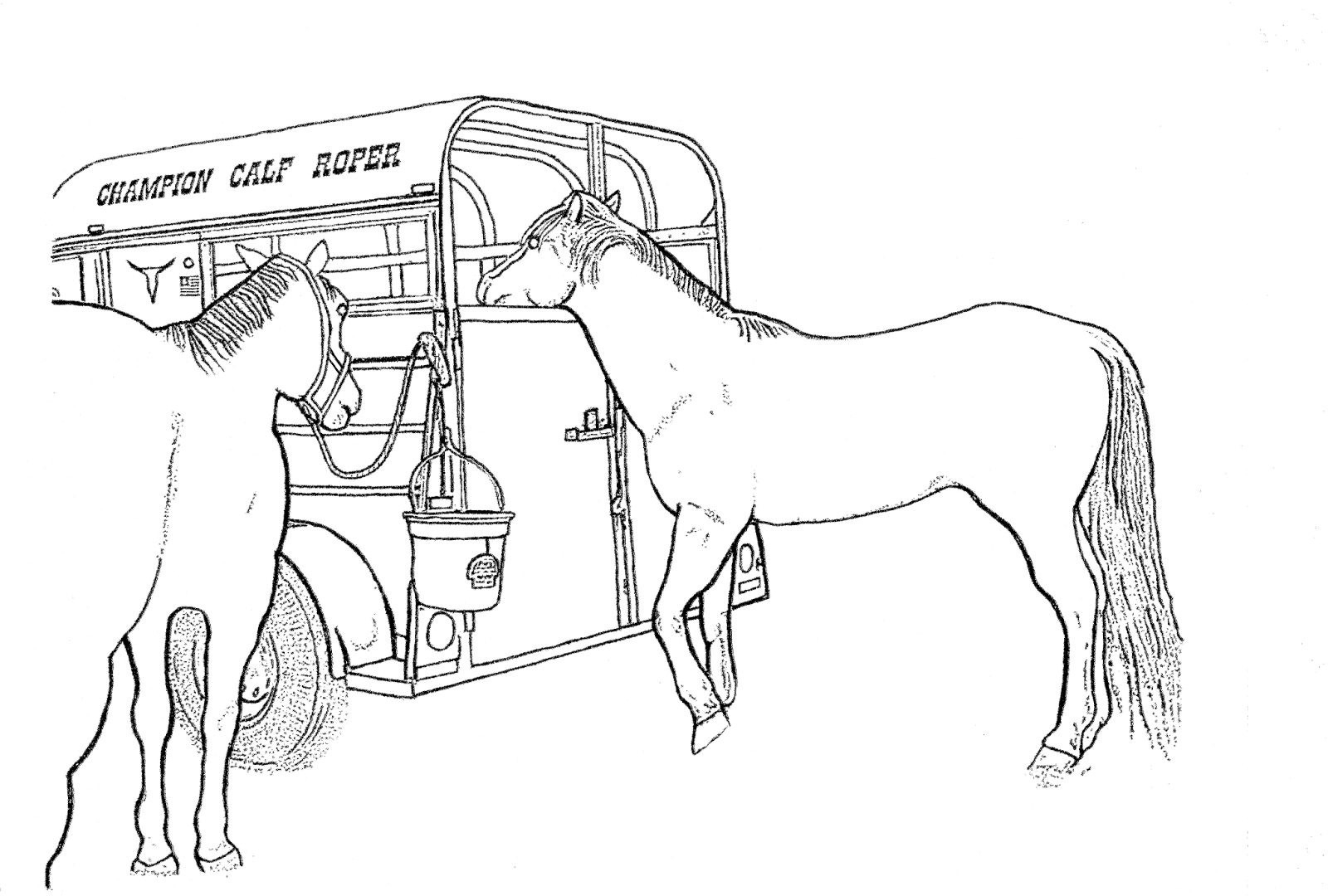 Race Horse Coloring Pages Printable 6n - To print for your project