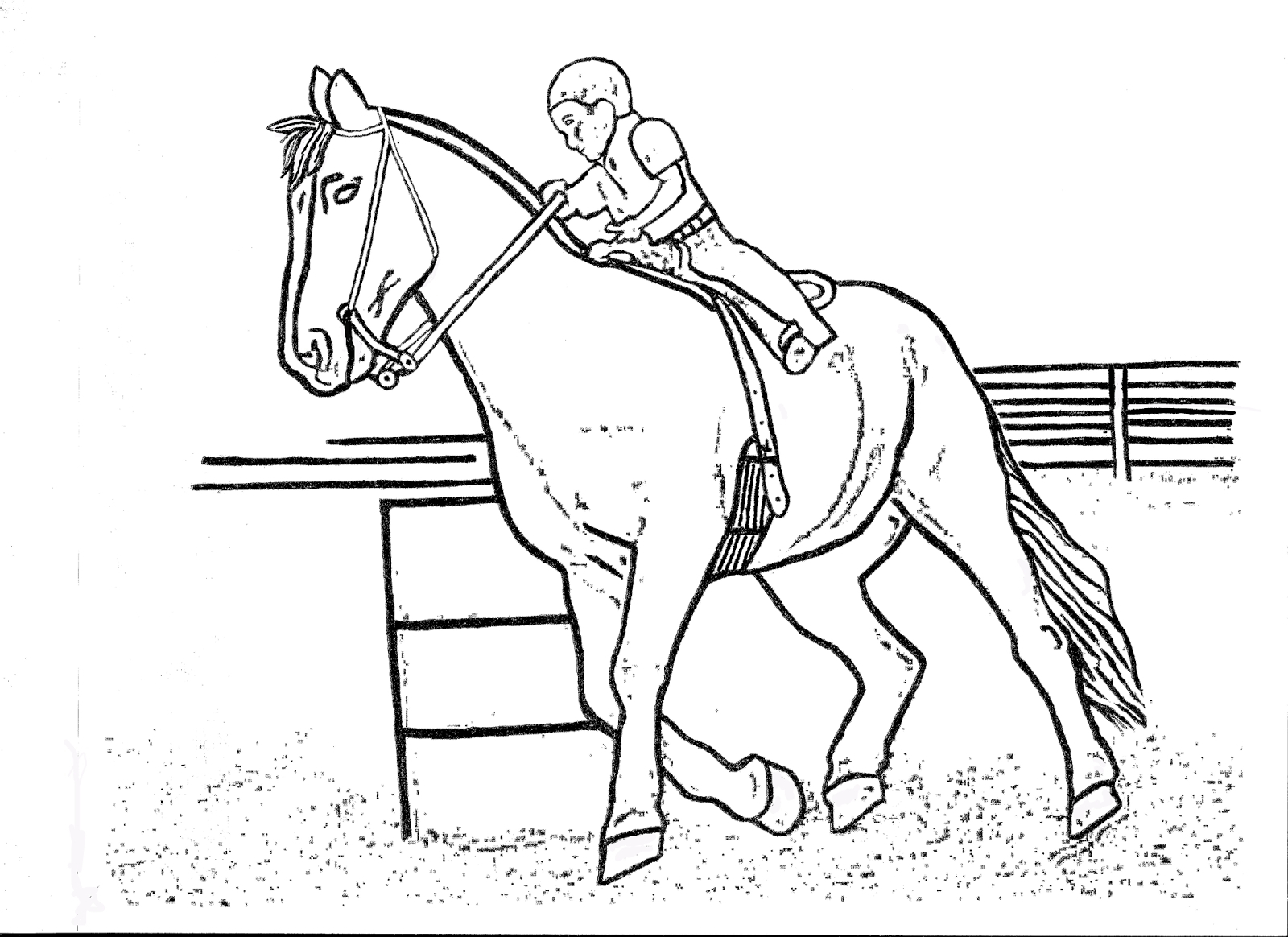 Race Horse Coloring Pages Printable Racing Collection Of Free
