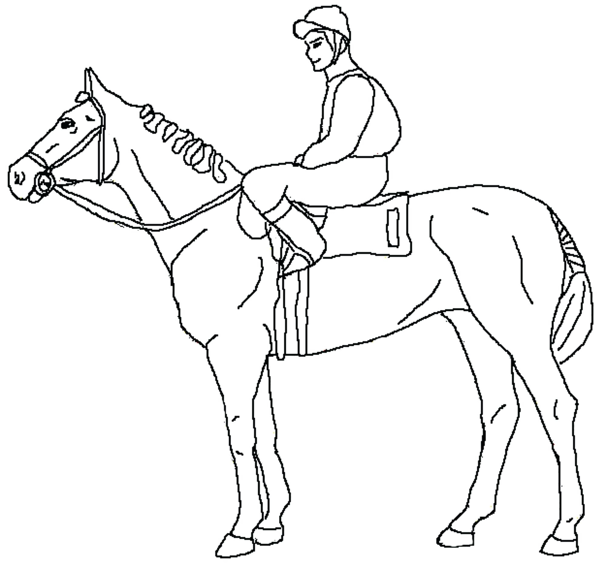 Unusual Race Horse Coloring Pages to Print Cowboy for Kids 670 ...