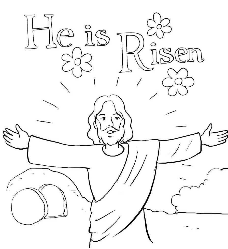 Resurrection Jesus Coloring Pages Printable