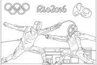 Special Olympics Coloring Pages - Rio 2016 Olympic Games Fencing Olympic & Sport Adult Coloring Pages Collection