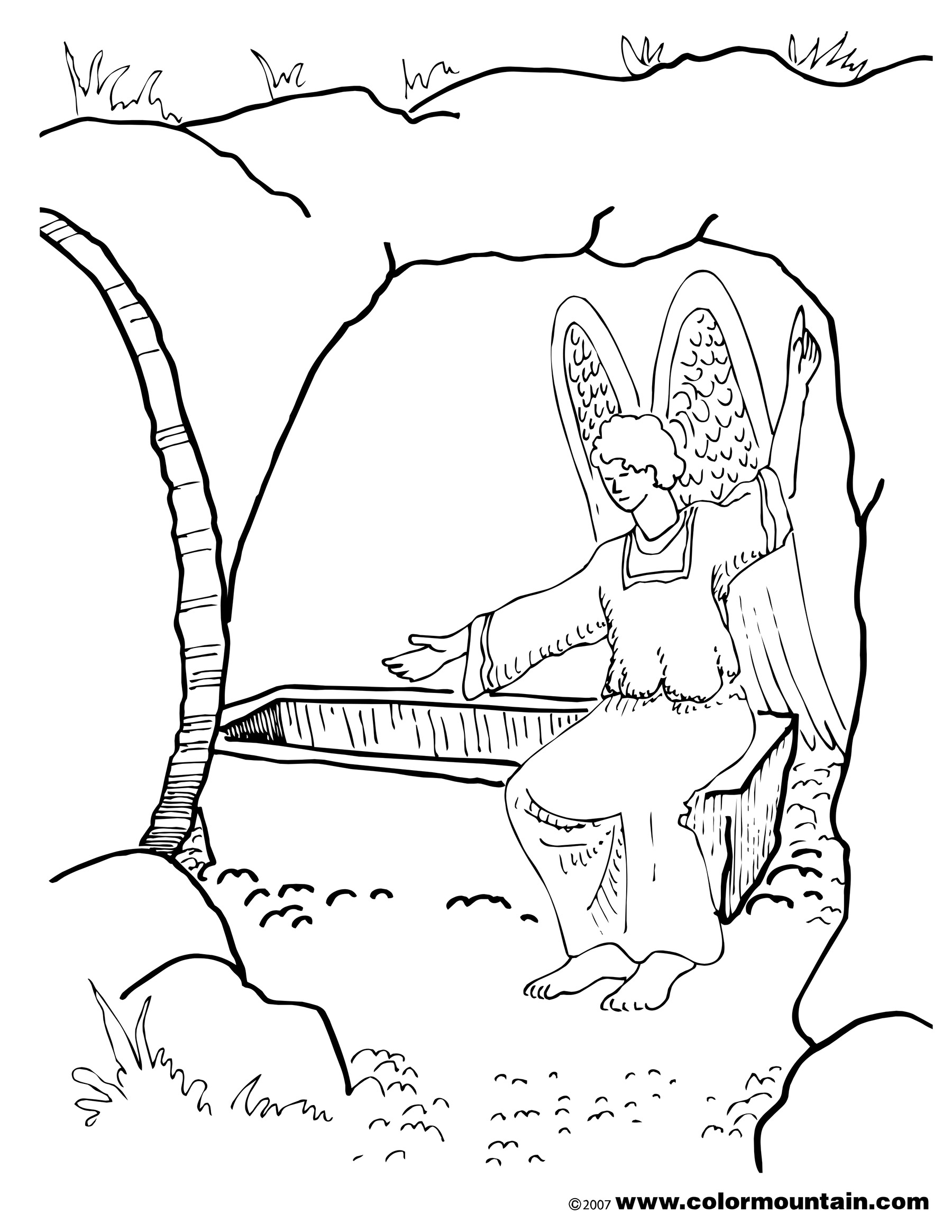 Security Religious Easter Coloring Pages for Sunday School Gallery ...