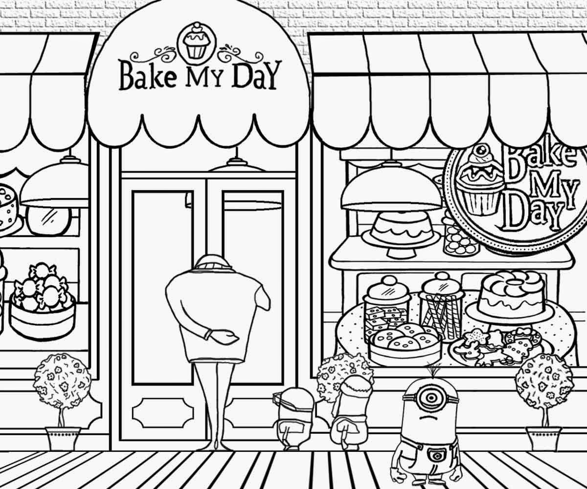 Shop Coloring Page Gallery Of Christmas Shopping Coloring Page Download
