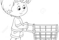 Shopping Coloring Pages - Shopping Cart Coloring Page Webmajstor Download