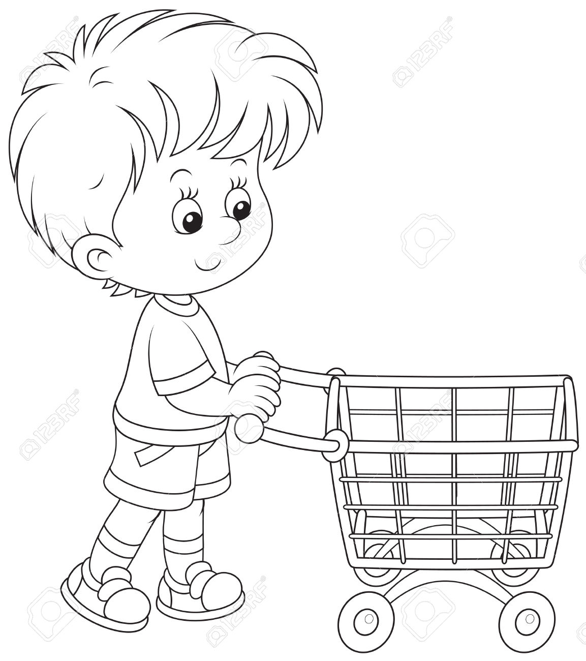 Shopping Cart Coloring Page Webmajstor Download Of Christmas Shopping Coloring Page Download