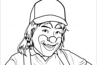 Smiling Coloring Pages - Smiling Clown Coloring Page Download