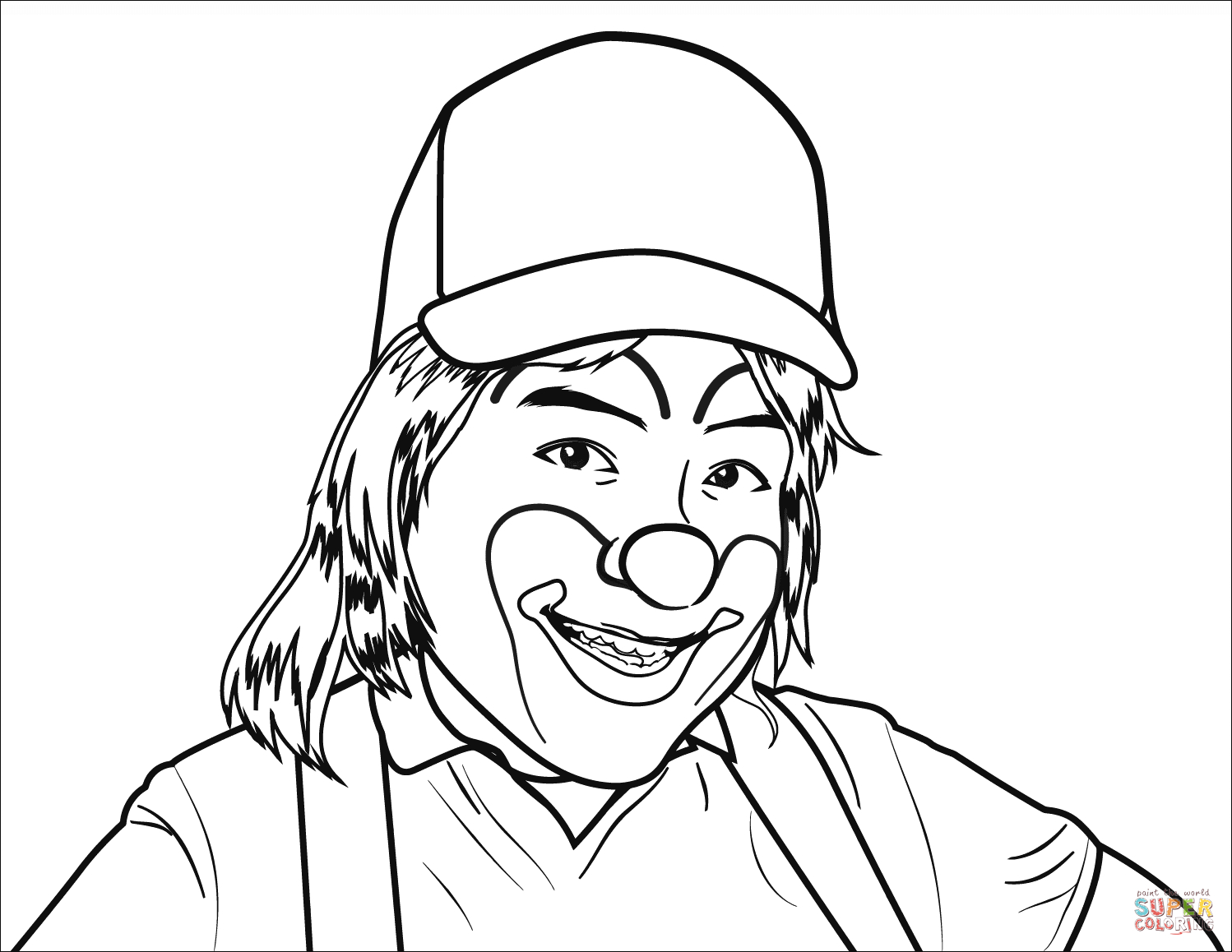 Smiling Coloring Pages Collection 15b - Save it to your computer