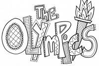 Special Olympics Coloring Pages - Special Olympics Coloring Pages Inspirational Olympic torch Coloring Download