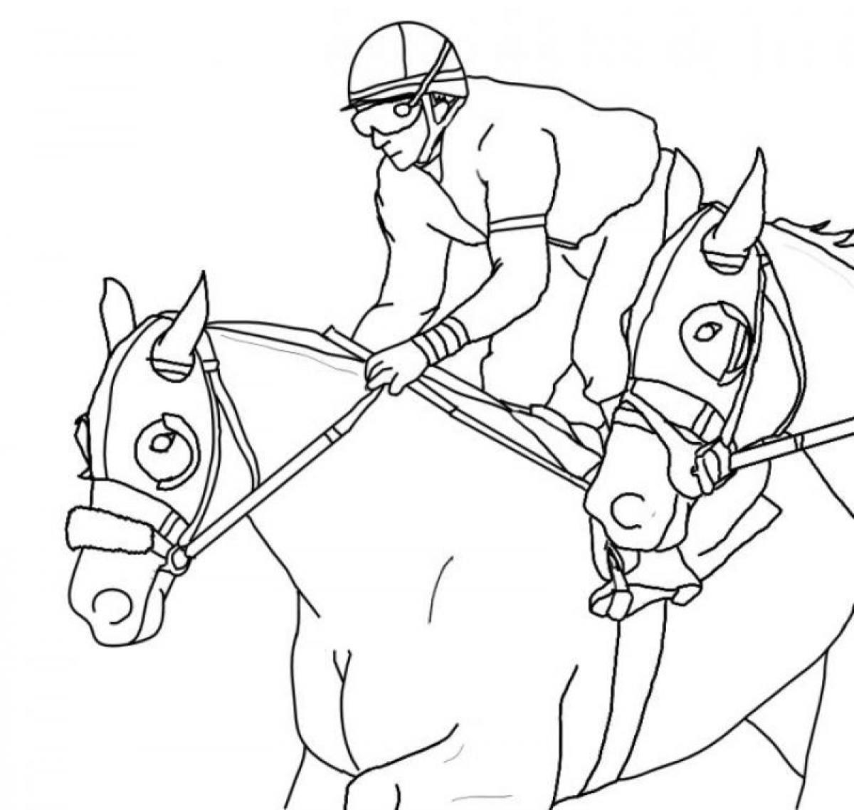 Race Horse Coloring Pages Printable 11m - Free For Children