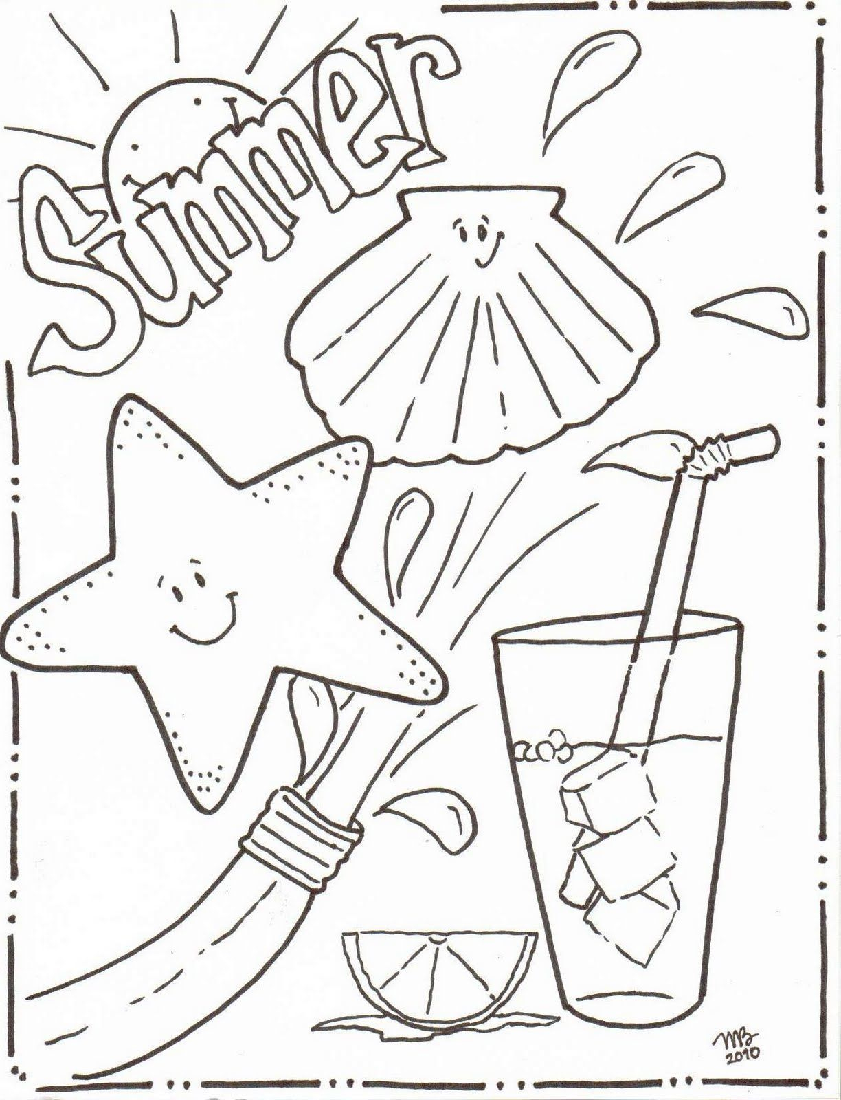 Summer Preschool Coloring Pages Collection 20b - Save it to your computer