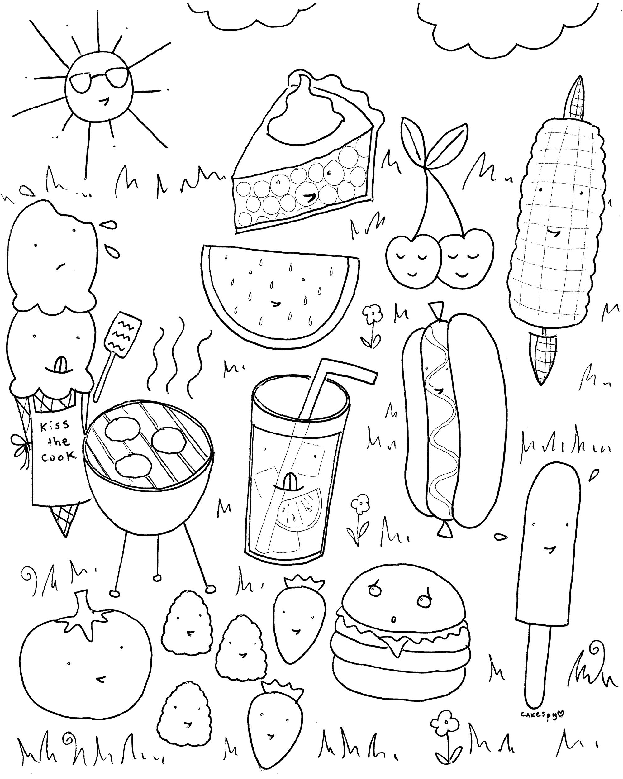Summer Preschool Coloring Pages Collection 13k - To print for your project