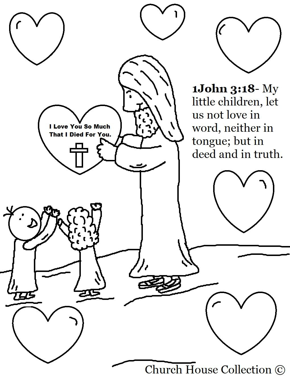 Coloring Pages for Sunday School Lessons Printable 7p - Save it to your computer