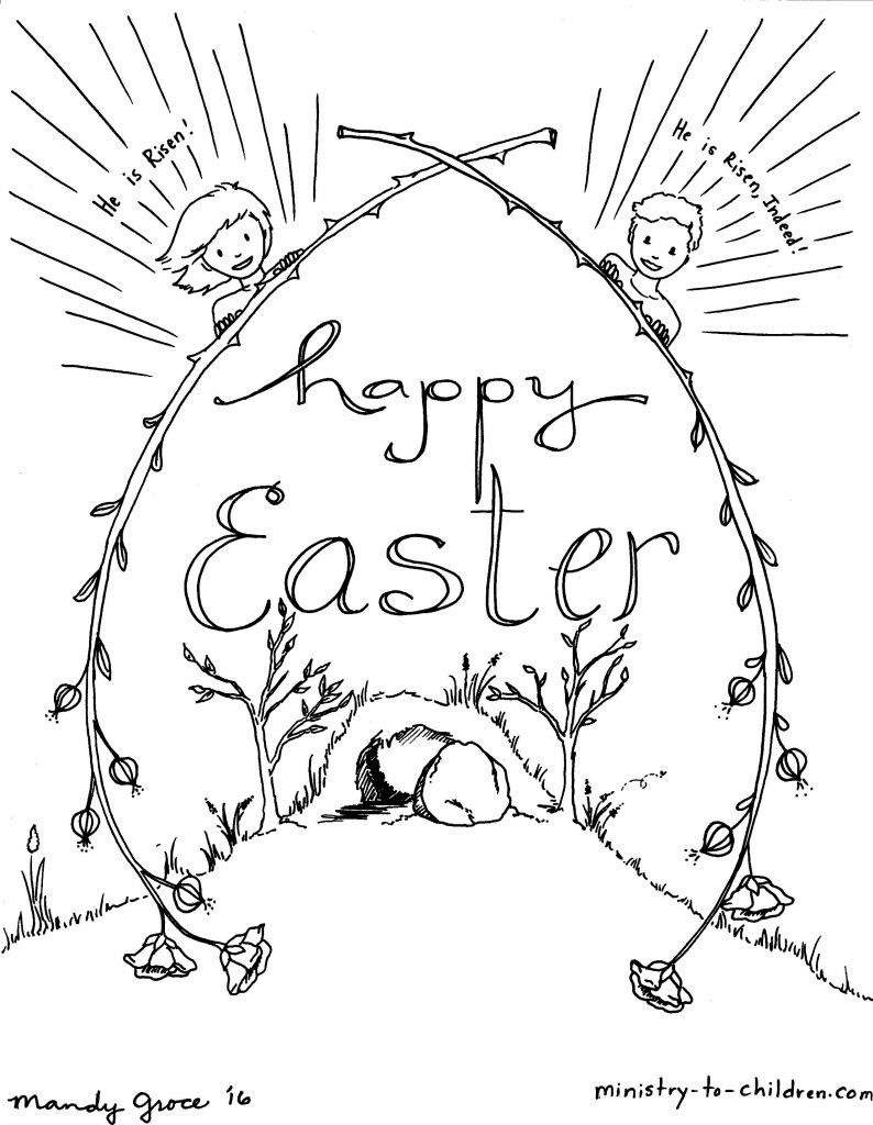 Christian Easter Coloring Pages Free Coloring Pages Easter Religious ...