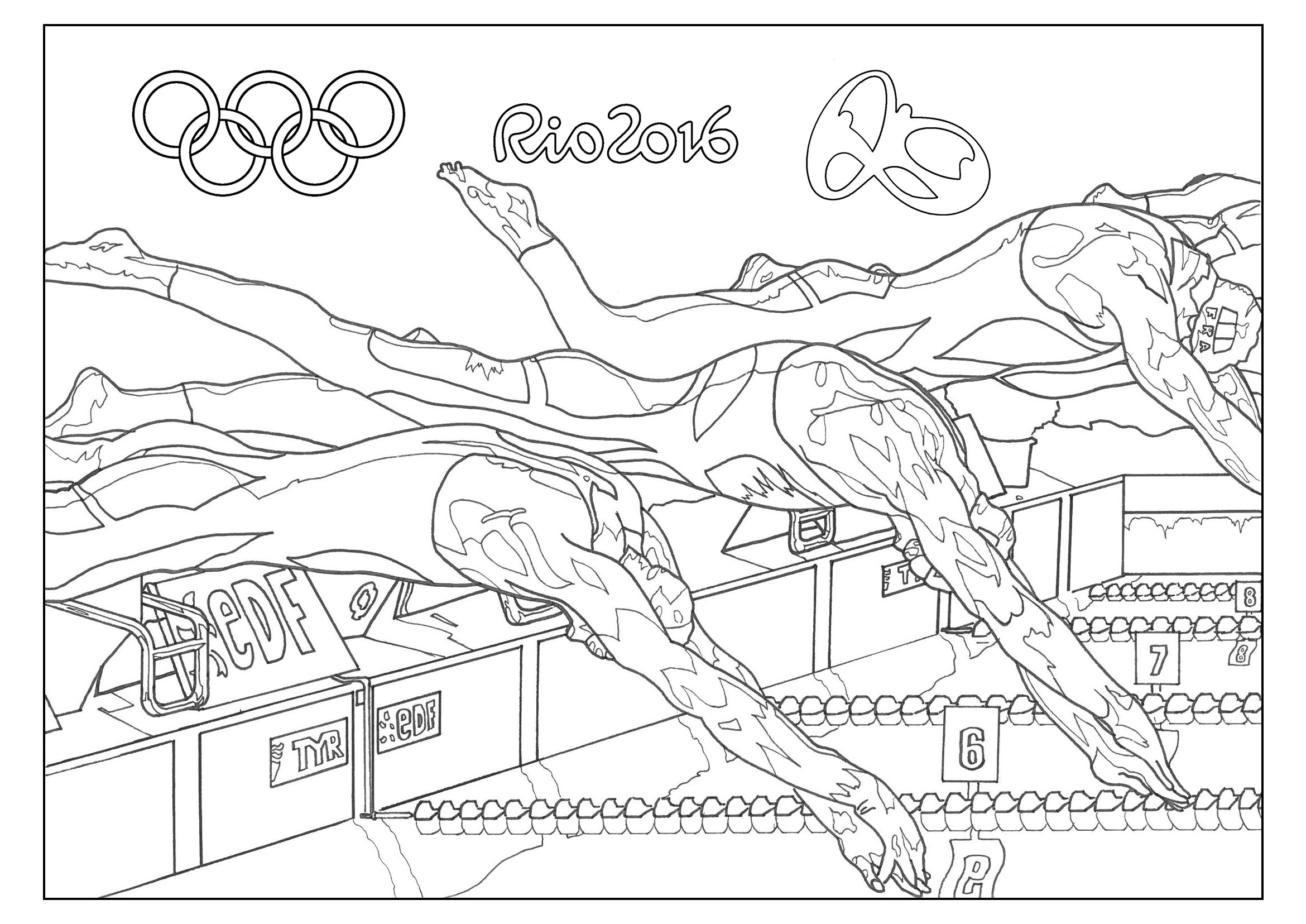 Swim Team Coloring Pages 6107 821—1061 – Fun Time to Print Of Olympic Games Gymnastic Paris 2024 Olympic & Sport Adult to Print
