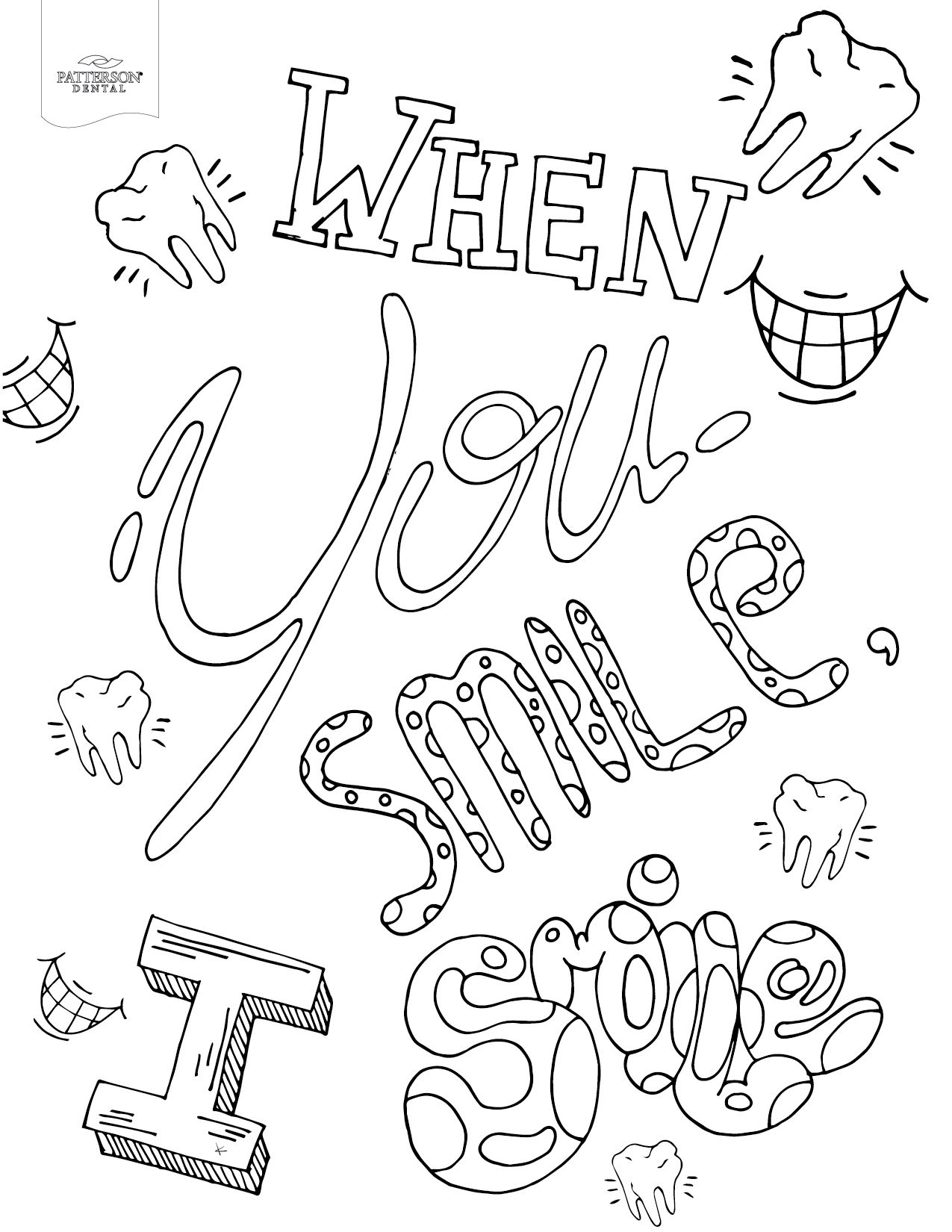 Smiling Coloring Pages Gallery 1n - Free For kids